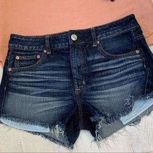 AEO High Rise Festival Jean Shorts - SZ 10